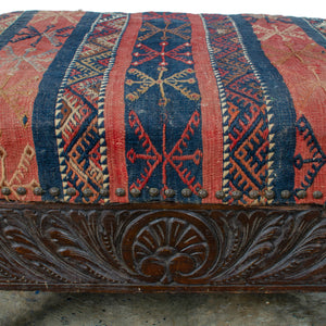Paw-Foot Box Stool, 19th Century