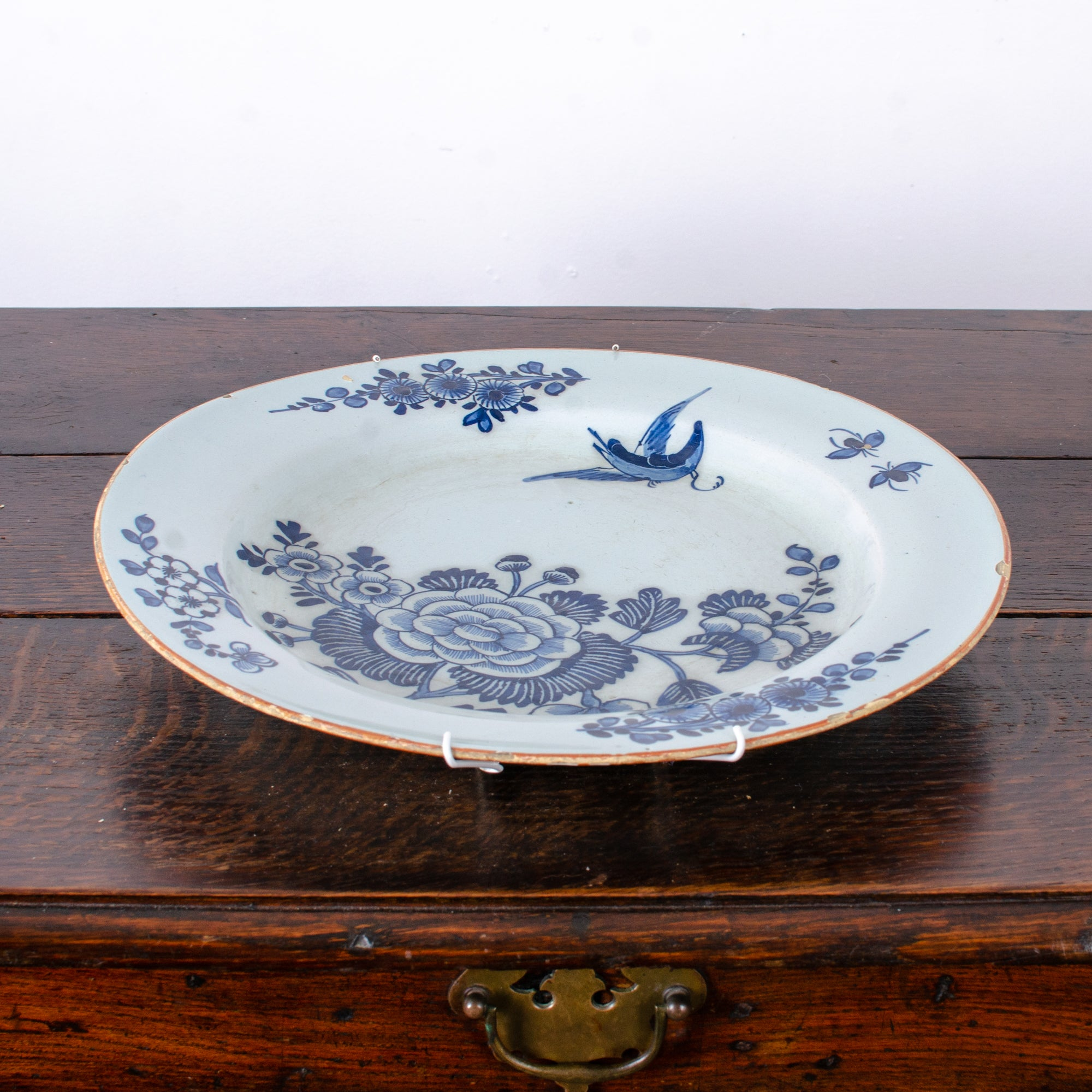 English Delft Charger, 18th Century