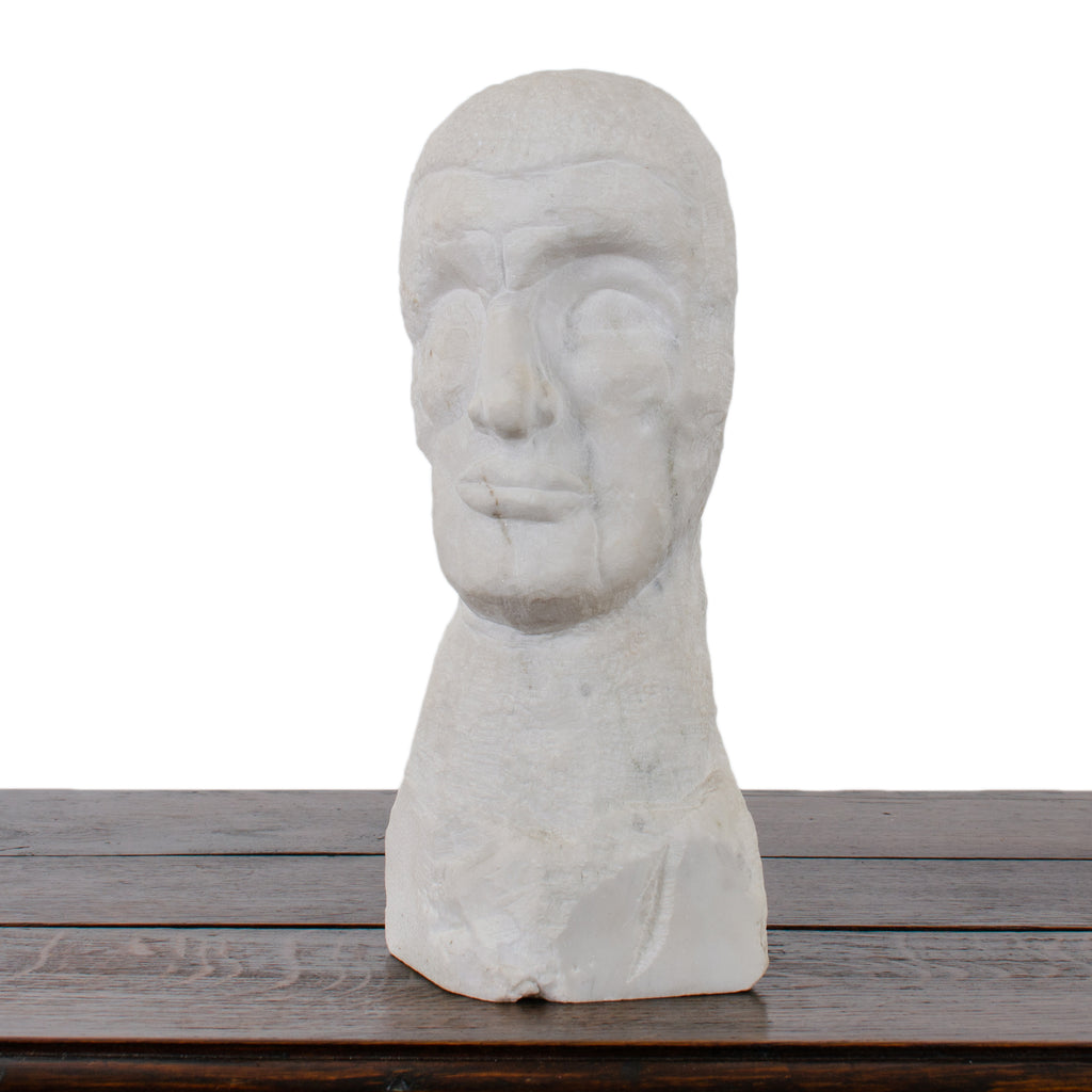 Outsider Art Marble Bust