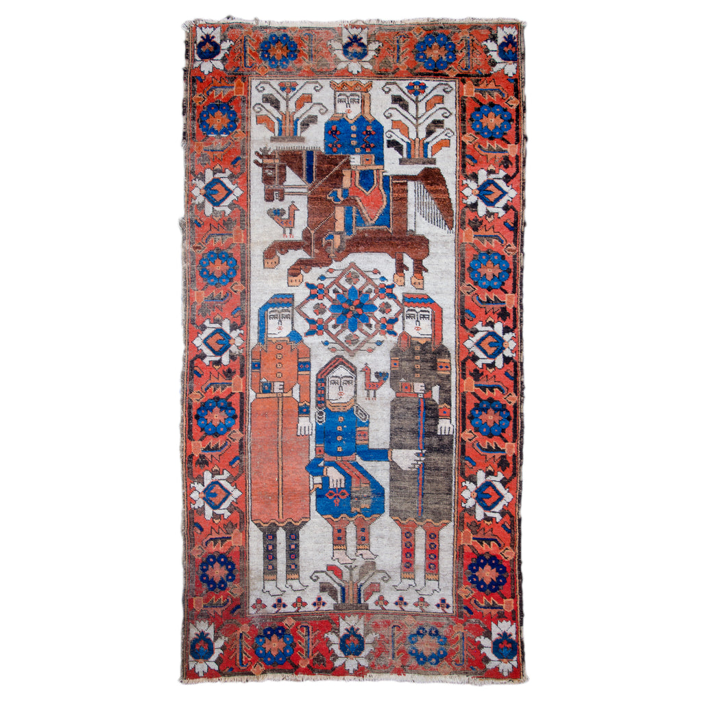 Ferdows Khosrow and Shirin Pictorial Rug, c.1900