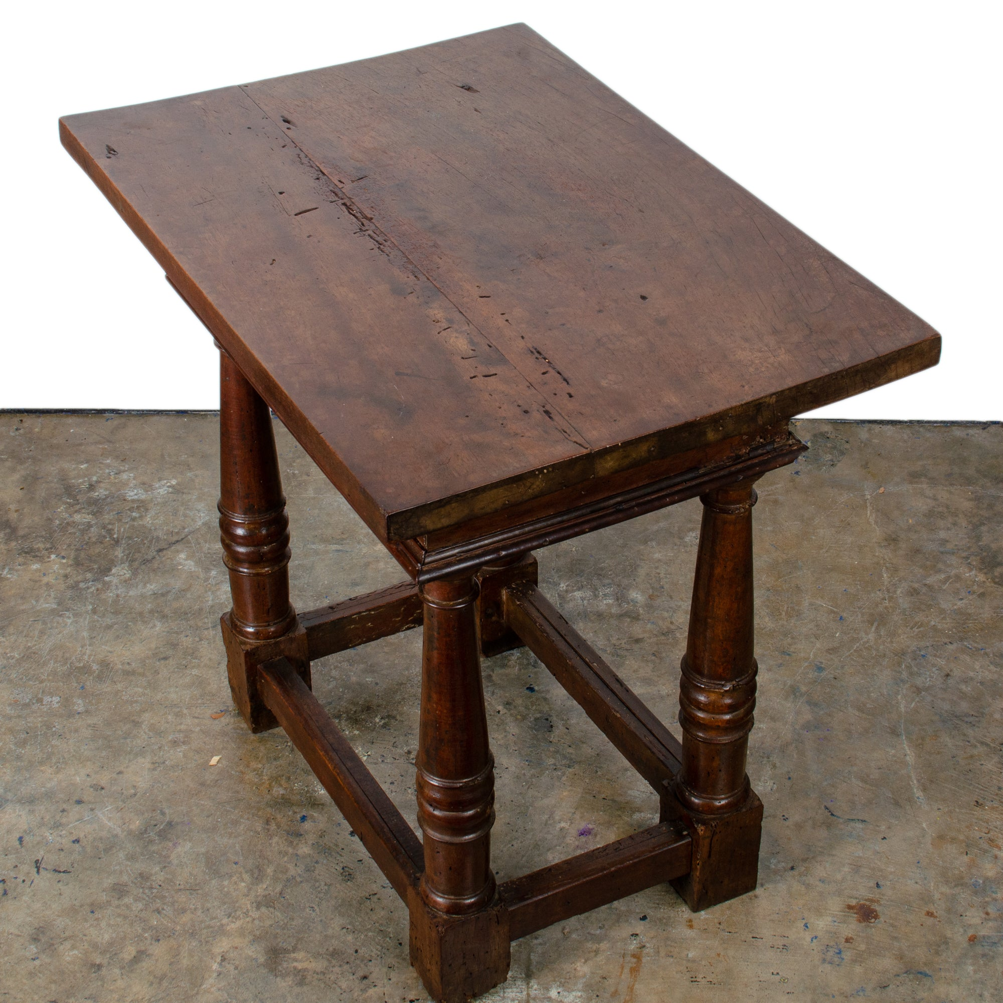 Continental Baroque Walnut Side Table, 17th Century