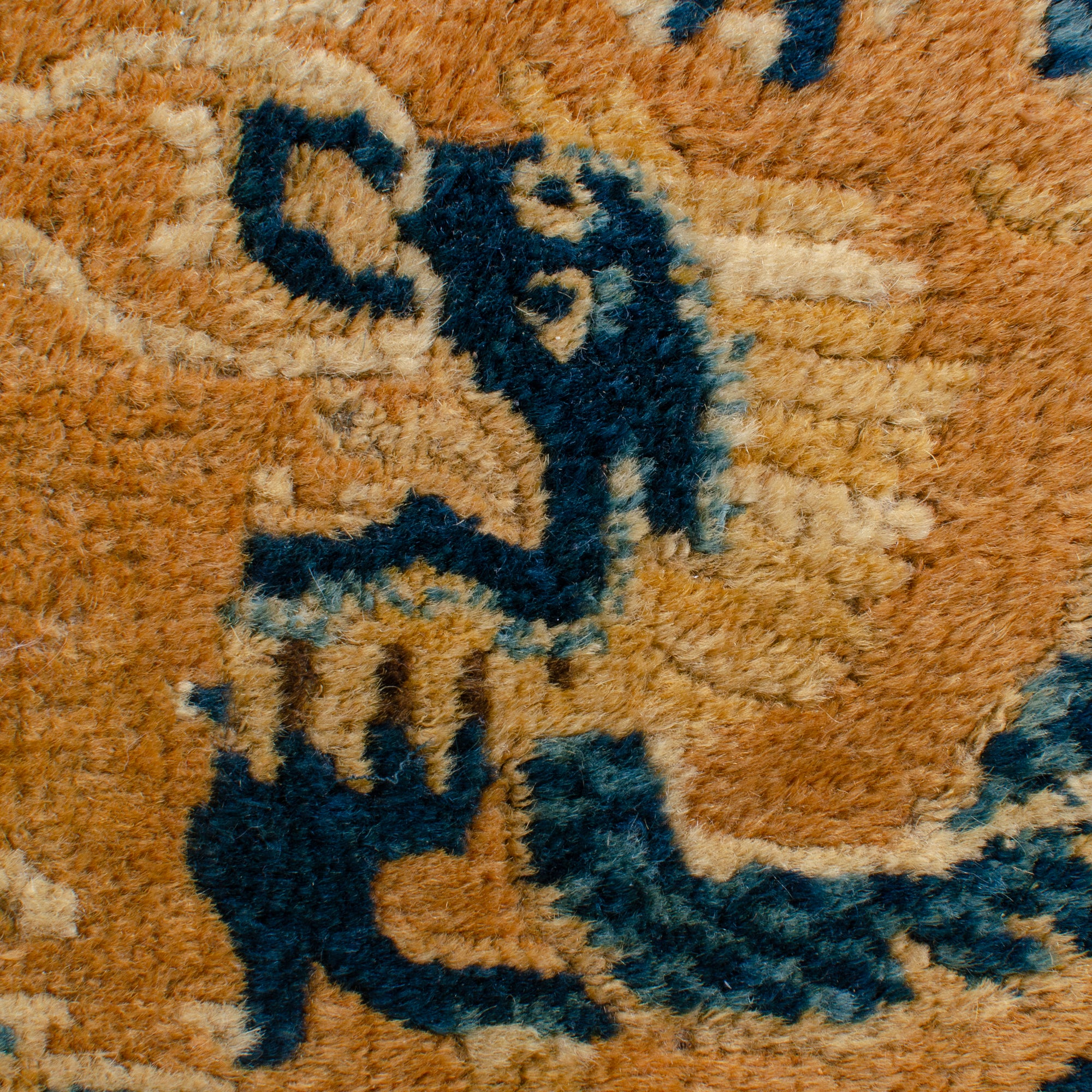 Chinese Ningxia Chair Seat Rug, c.1830