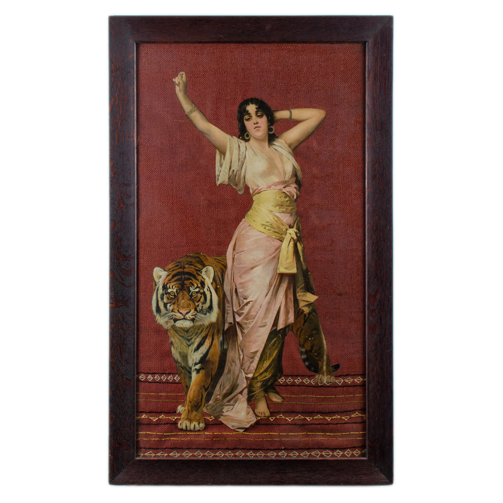 Isadora Duncan and Tiger Woolwork Collage