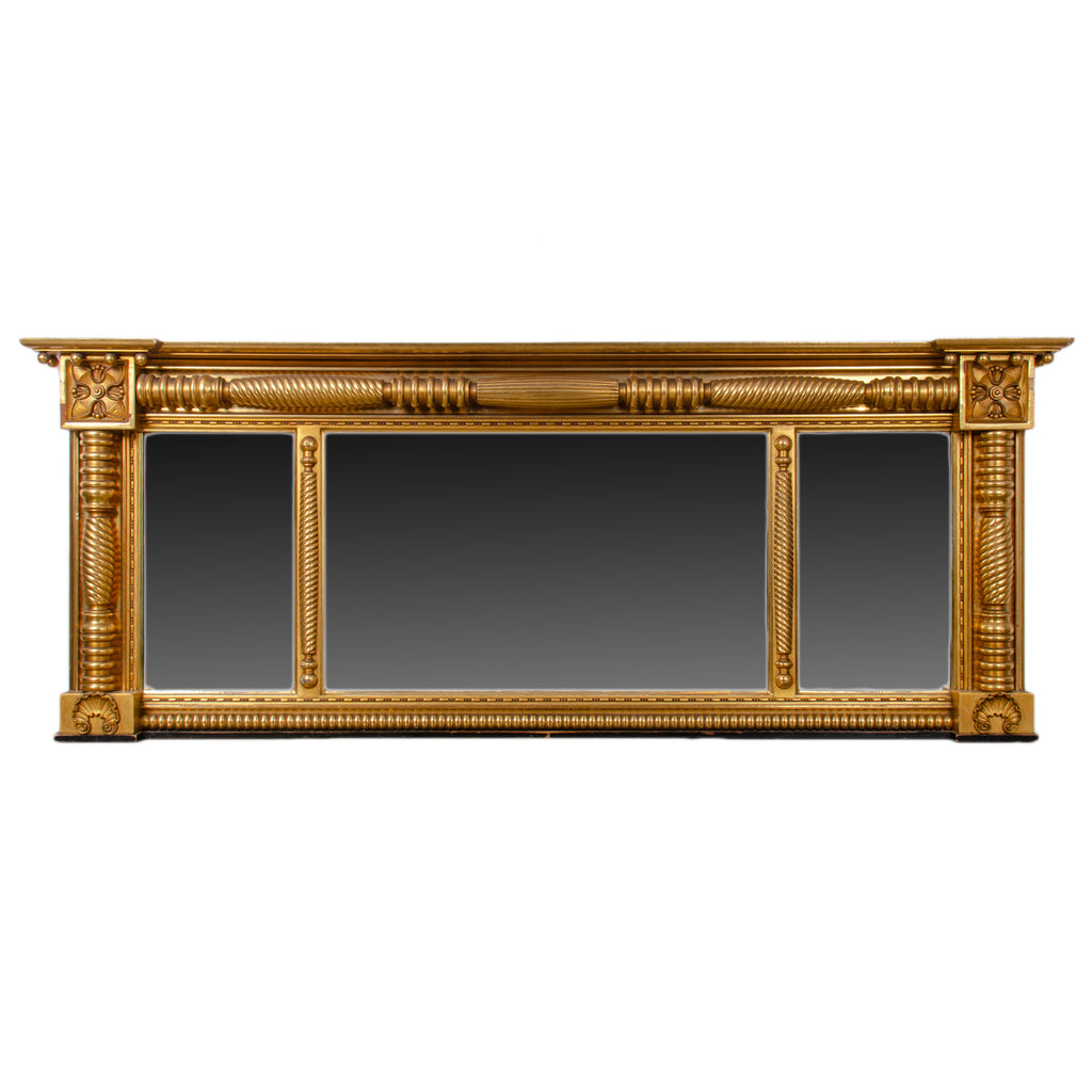 Federal Gilt Overmantle Mirror