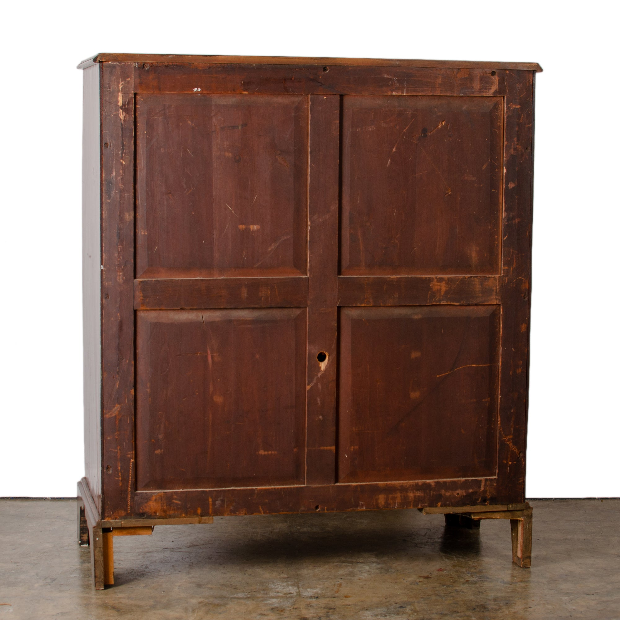 English Mahogany Linen Press, 19th Century