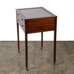 George III Mahogany Vitrine Table