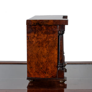 Scottish Miniature Burl Wood Chest of Drawers, 1863