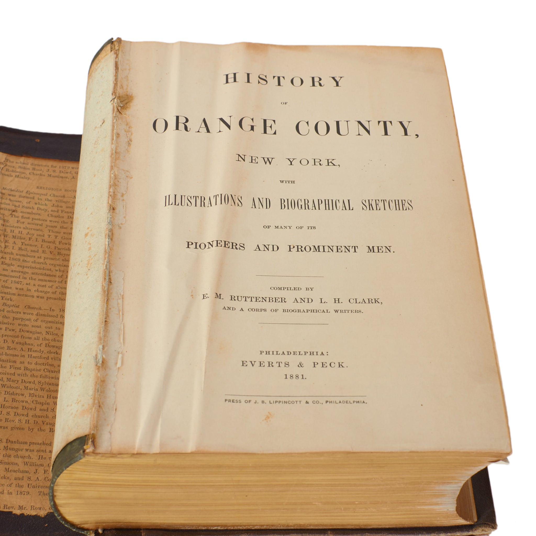 History of Orange County, New York, Everts & Peck 1881
