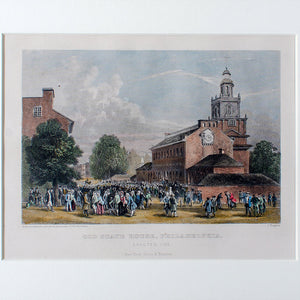 Old State House, Philadelphia, Engraving by J. Rogers