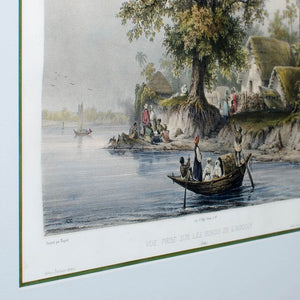 Hooghly River Print by Auguste-Nicolas Vaillant