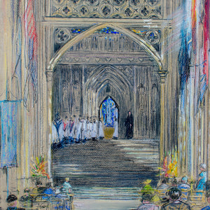 The Nave, Canterbury Cathedral by Kathleen Persse