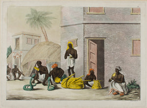 1824 Giulio Ferrario Snake Charmers of India Print