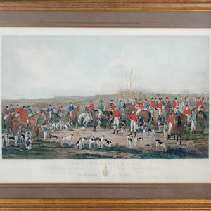 The Bedale Hunt - W.H. Simmons Engraving 1842