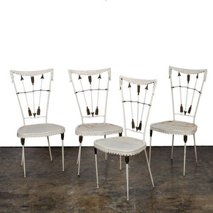 Wrought Iron Arrow Chairs by Tomaso Buzzi, Italian, Circa 1940
