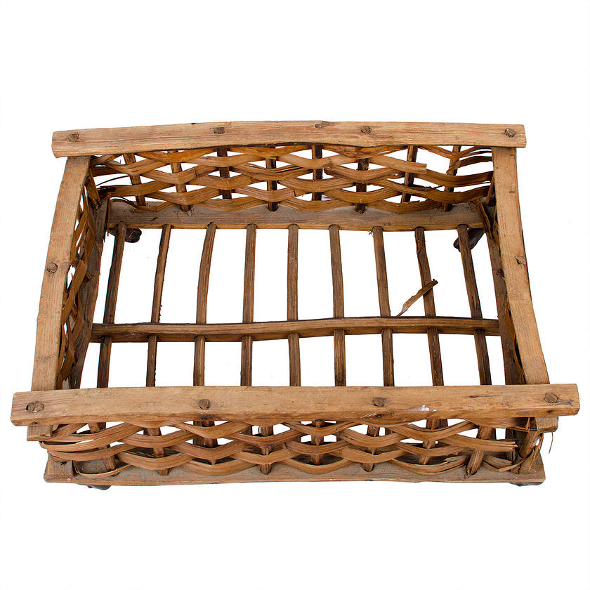 Antique Storage Basket on Casters