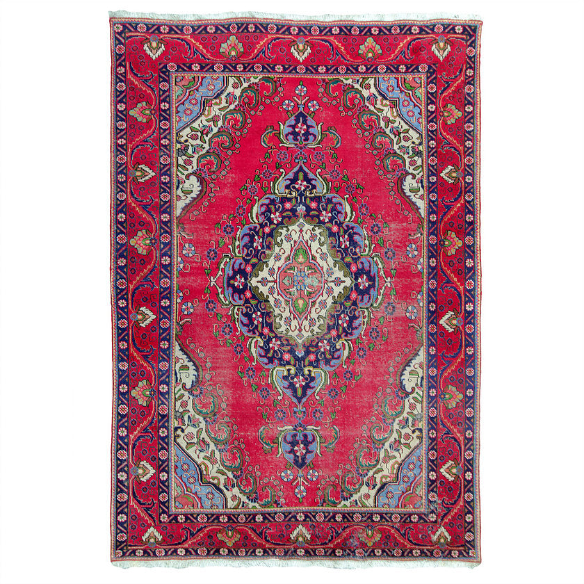 "Antique Kerman Rug 6'8"" x 9'8"""