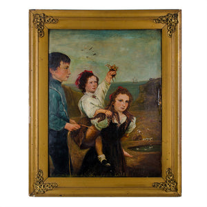 Philadelphia Folk Art Shoreline Family Portrait