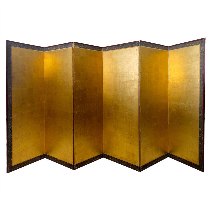 Antique Chinese Gold Leaf Room Divider Screen