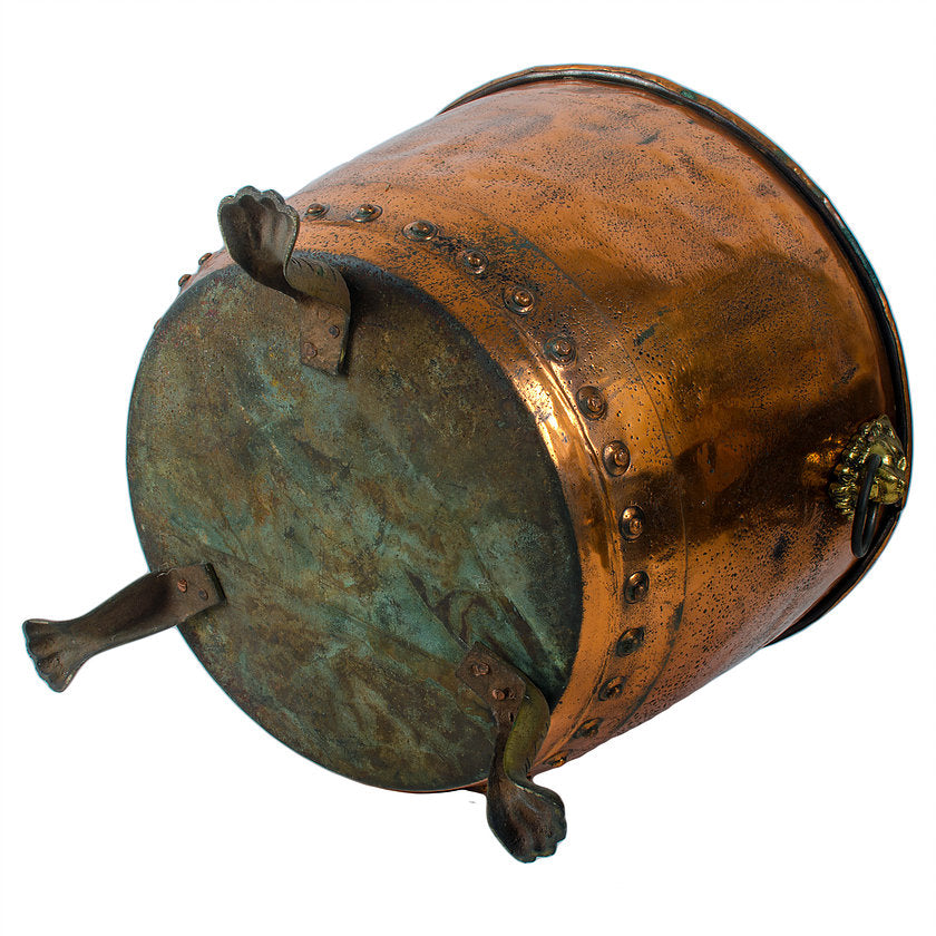 Large 19th c. Copper Log Bucket