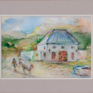 Suzanne McCullough Plowden - South Africa Watercolor Paintings - a Pair