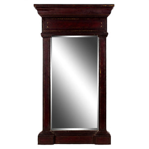 Maitland-Smith Gilt Embossed Leather Mirror