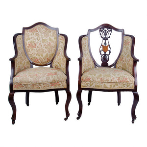 Edwardian Shield Back Chairs - Set of 5