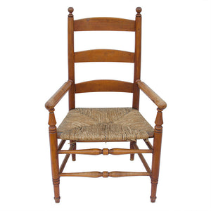 19th Century American Maple Ladder-Back Armchair
