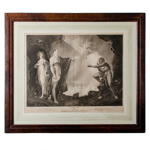 "Boydell's Shakespeare Gallery, ""The Tempest"" Engraving 1797"
