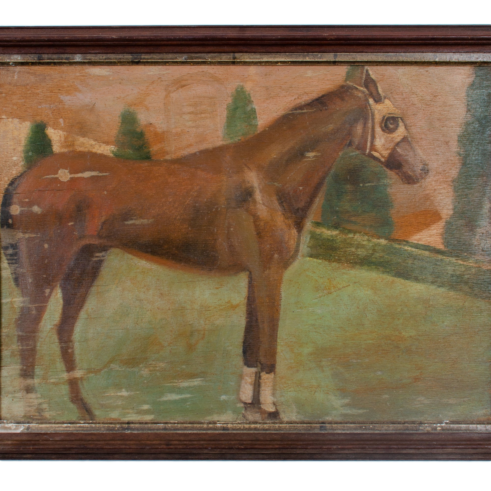Race Horse Painting on Board