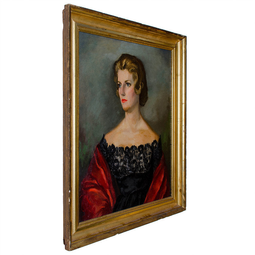 Mid-Century Portrait Painting - Cornelia Bowling Carrier Gibbs