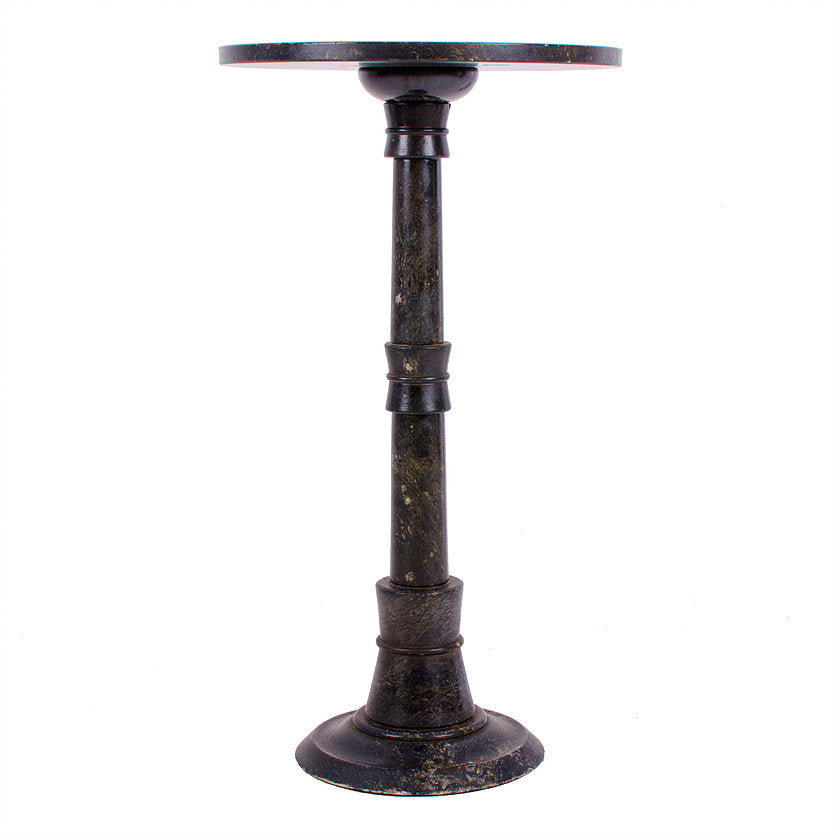 Alabaster Pedestal Drink Table