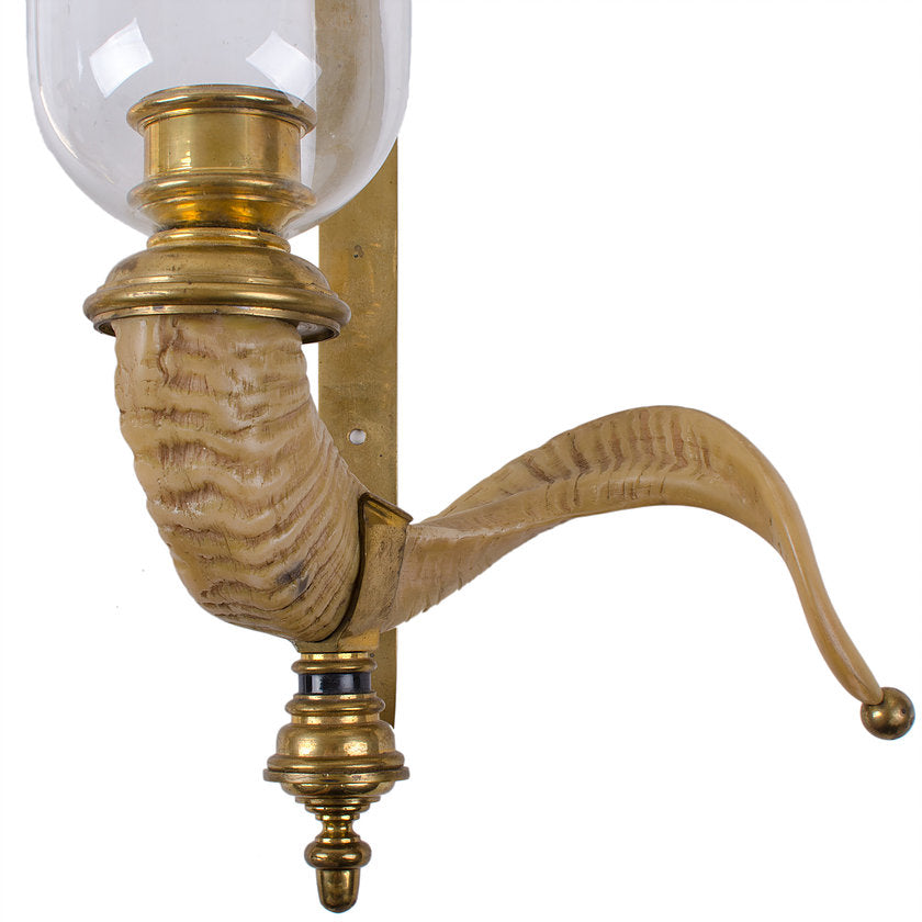 Chapman Ram's Horn Candle Sconces