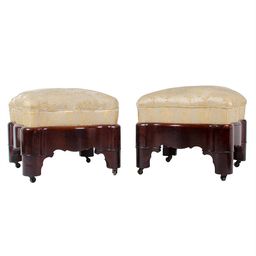 Antique Empire Foot Stools - a Pair