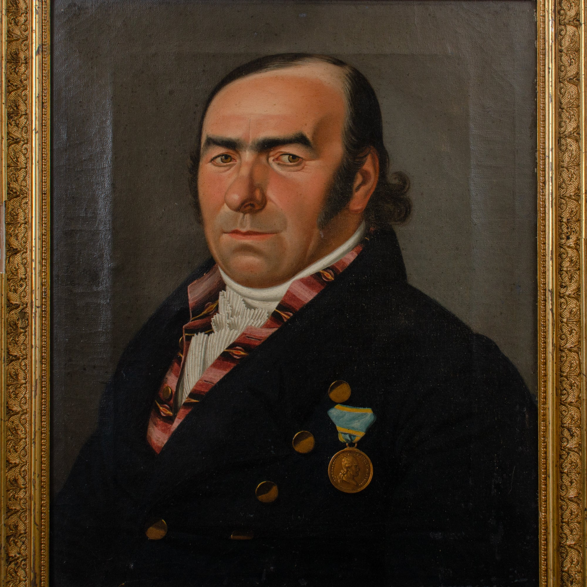 Biedermeier Portrait of a Gentleman by Gustav Albrecht Traeger