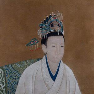 Chinese Ancestral Portrait Silk Painting