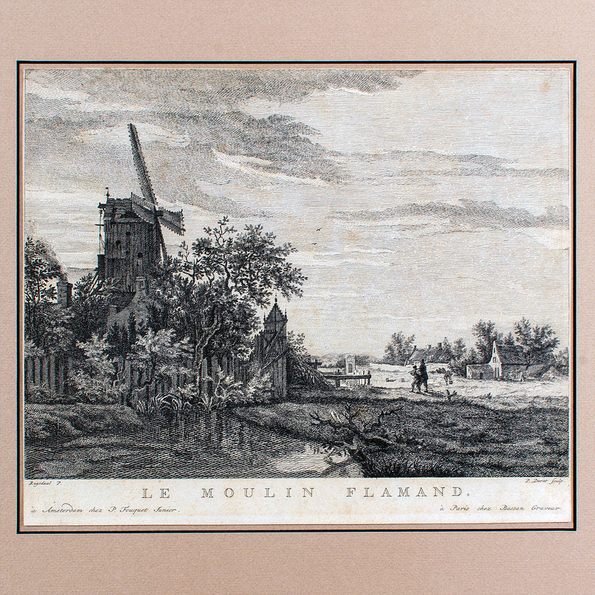Le Moulin Flamand C1762-1766, Pierre Jacques Duret After Ruisdael
