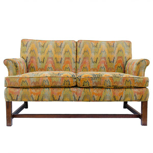 Vintage Sherrill of Hickory Flame Stich Loveseat