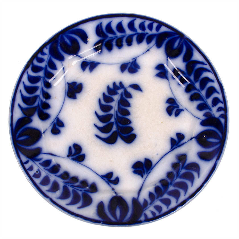 Fern Brushstroke Flow Blue Plates - Set of 3