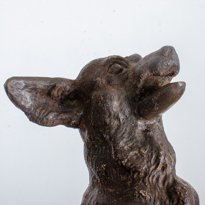 Victorian Cast Iron Begging Dog By Coalbrookdale Foundry, c.1875