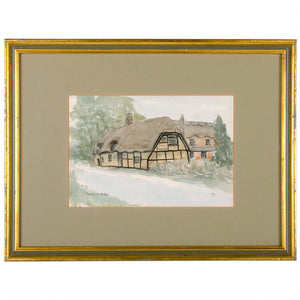 British Pubs Watercolor Paintings - Set of 5