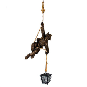 Antique Black Forest Mountaineer Lamp