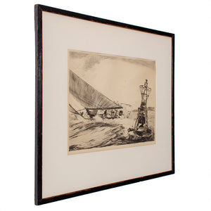 Yngve Edward Soderberg Etching, Ed.85, Nautical Sailing Print