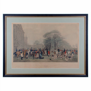 The Meet at Badminton, English Sporting Engraving 1847