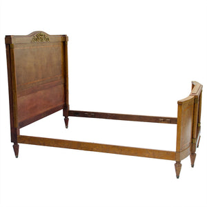 Louis XVI Style Burled Walnut Bed