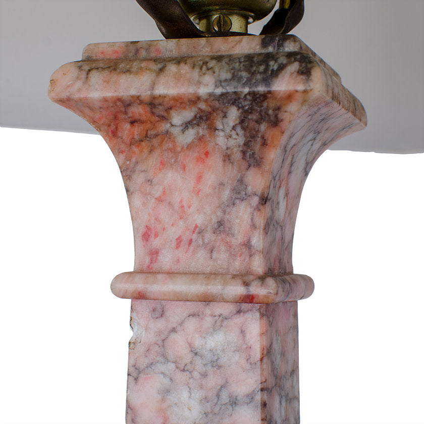 Marble Column Lamps - a Pair