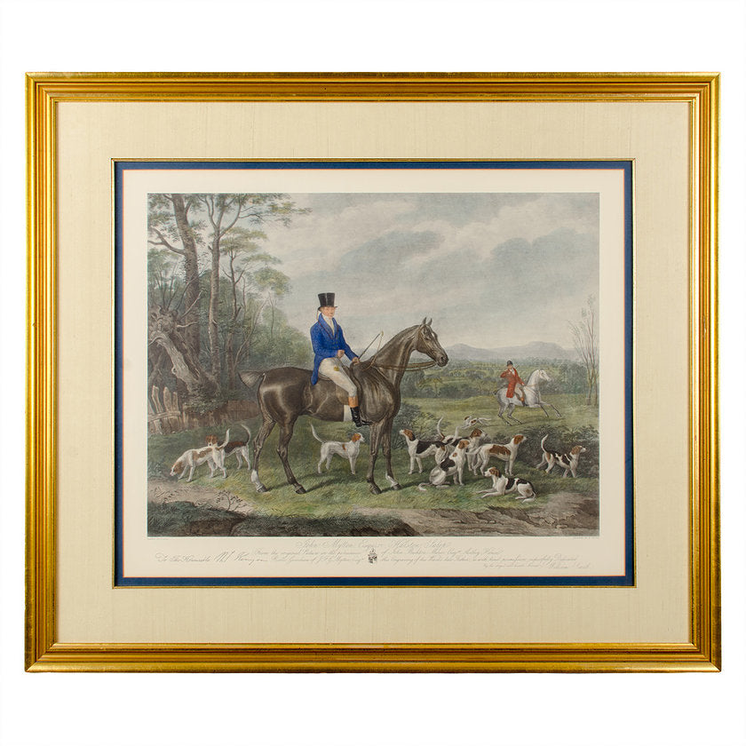 John Mytton Esquire, Fox Hunting Engraving, 1847