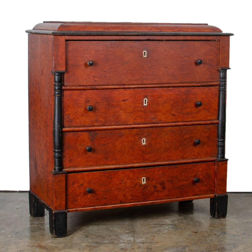 Grain-Painted Biedermeier Style Chest of Drawers c.1840