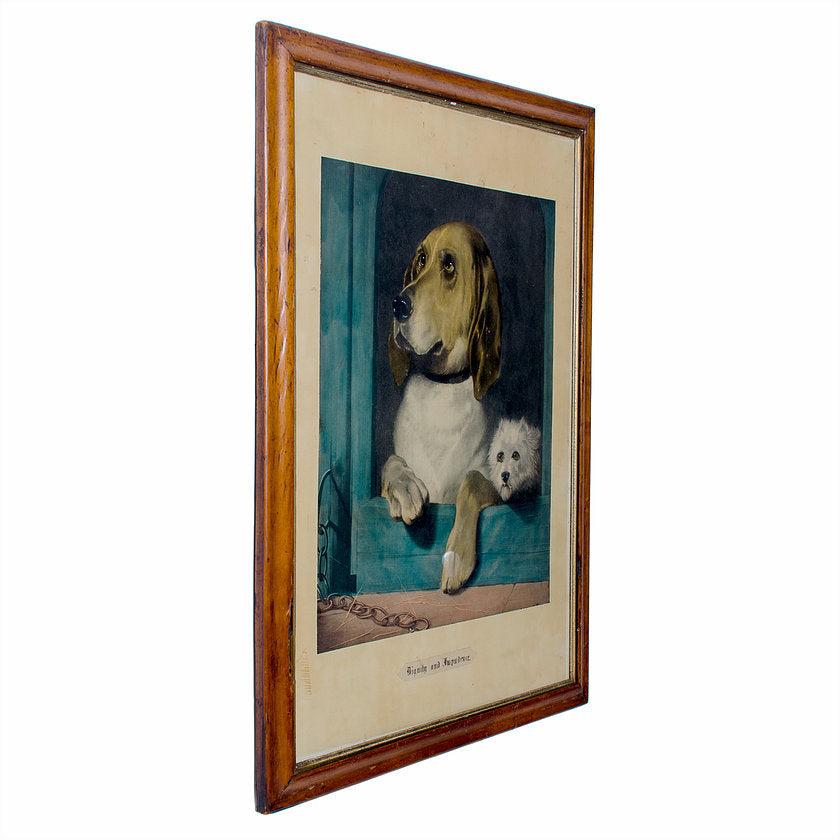 Dignity and Impudence Dog Lithograph, Sir Edwin Henry Landseer