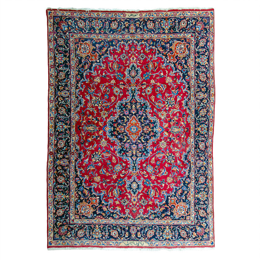Antique Persian Kashan Rug - 8' x 11'3""