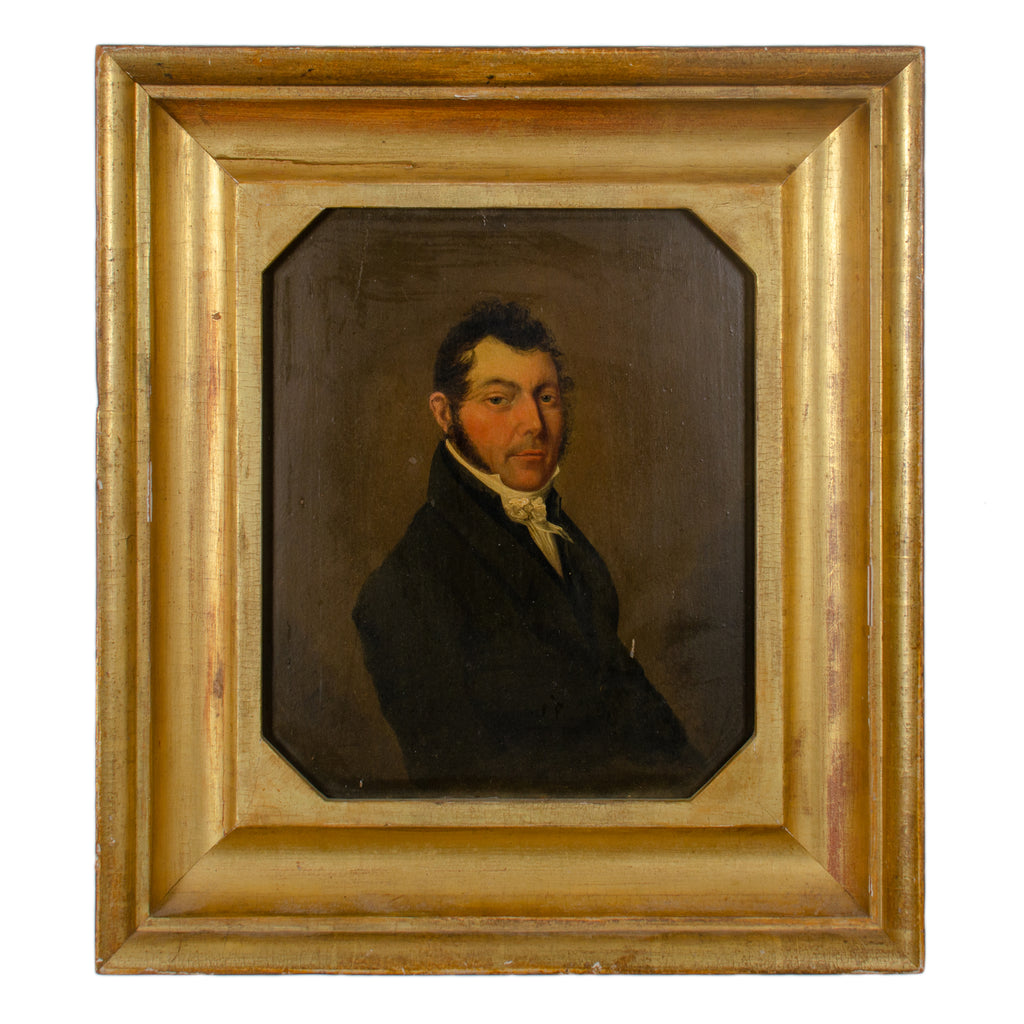 Gentleman Portrait Painting, British School, 19th Century